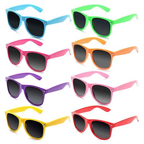 MARMODAY Gafas de sol Vintage Color Cristal Ancho 2 Pulgadas 8 Piezas
