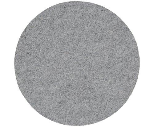 Boltze Lot de 6 Dessous de Verre en Feutre Gris /Ø 10 cm