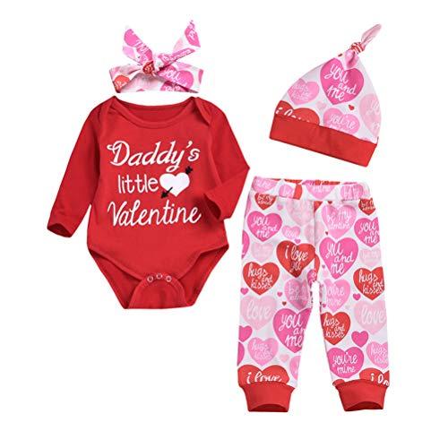 Fovor Conjunto de regalo de San Valentín, para el día de San Valentín, para bebés y niñas