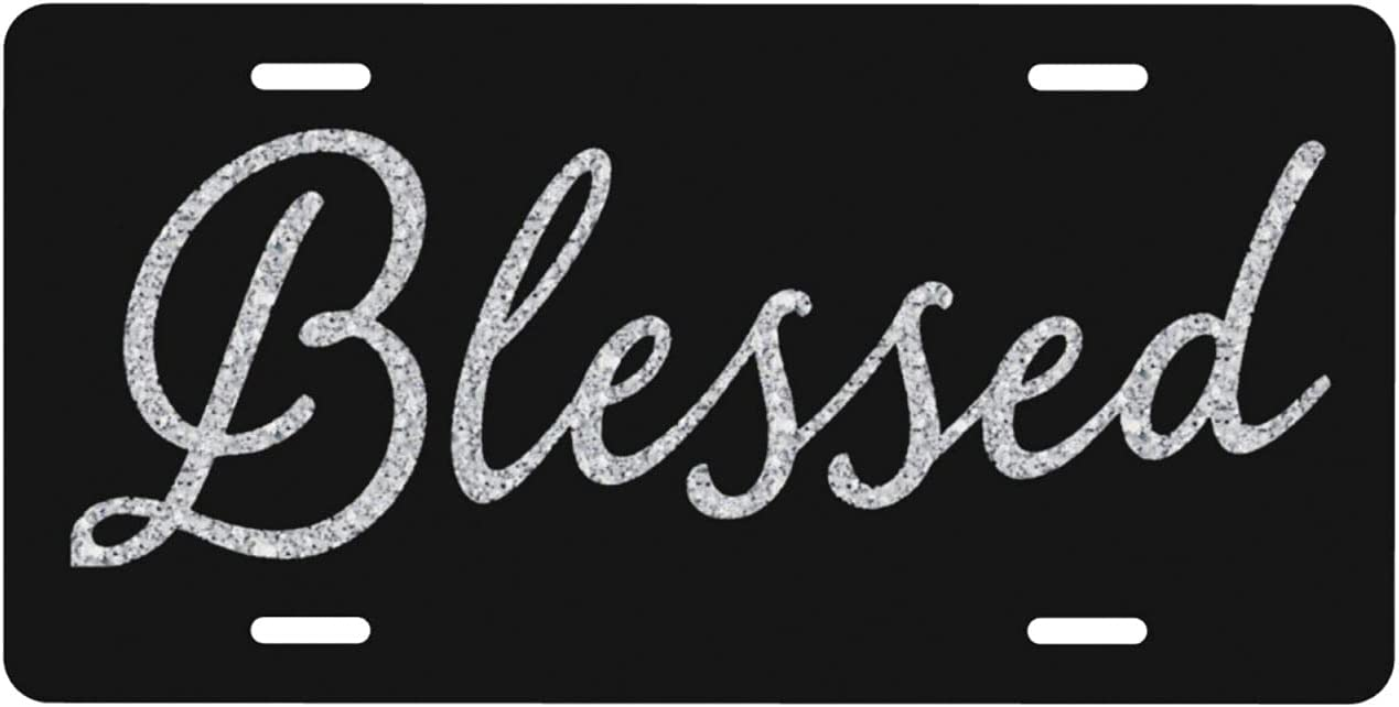 Diamond Blessed Max 45% OFF Car License Plate Covers Decorative Front Long Beach Mall Li