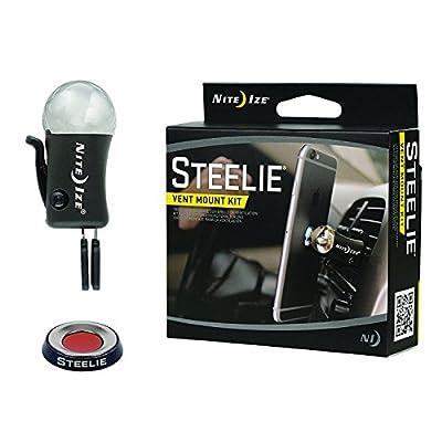 Nite Ize Steelie Car Mount Kit for Cellphones, Magnetic Dash Mount