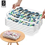 Stackable Puzzle Sorting Trays Jigsaw Puzzle Sorters, Puzzle Accessory for Puzzles Up to 1000 Pieces, 5 Pcs
