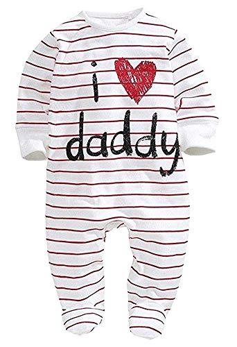 Bebé Pelele de Manga Larga Mono Unisex Mameluco Infantil de Algodón para Recién Nacido Pijama de Una Pieza Body para Niños Pequeños Ropa para Dormir