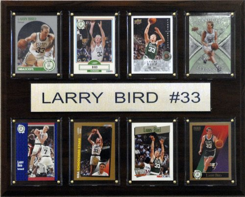 NBA Larry Bird Boston Celtics 8 Card Plaque