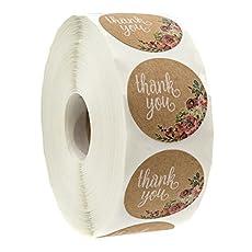Image of Brown Kraft Floral Thank. Brand catalog list of SBLABELS.