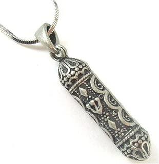 Hebrew Mezuzah Necklace