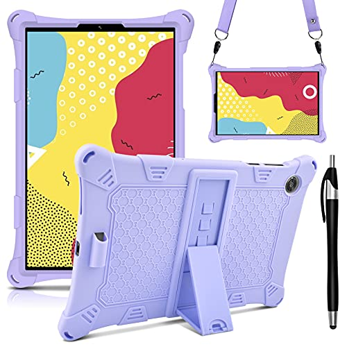 KATUMO Custodia Compatibile con Lenovo M10 HD 10.1  2a Generazione 2020 (TB-X306F X306X), Silicone Cover per Lenovo M10 FHD 10,3  2020 (TB-X606F X606X) Strappo e Tablet Stylus Pen