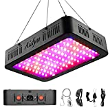1000W LED Grow Light,Aidyu Full Spectrum Growing Lamps for Indoor Hydroponic Greenhouse Plants with Veg and Bloom Switch, Dual Chips, UV & IR, Adjustable Rope Hanger