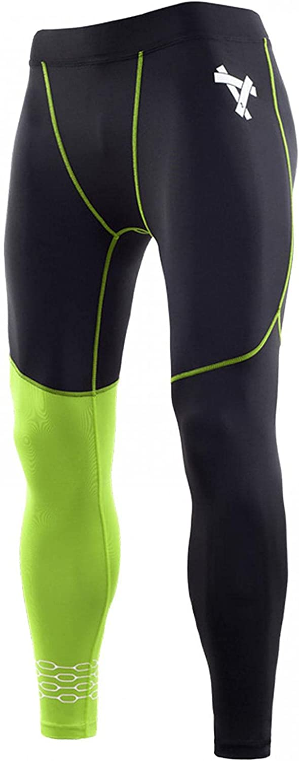 NREALY Mens Leggings Elastic Waist Patchwork Quick Dry Joggers Cycling Tights