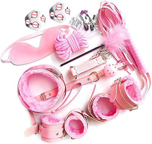 Exquisita correa de muñeca ajustable, juego de muñeca suave, modelos de pareja los ojos Diadema Otros juguetes divertidos para mujeres, paquete de 12 (rosa)
