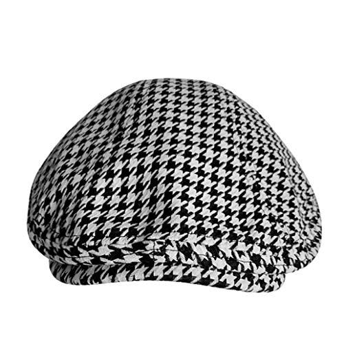 Gorras planas de algodón para hombres y mujeres pata de gallo negro boina casual de pato de hiedra gorra vintage otoño invierno hombre sombrero