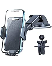 $23 » VICSEED Military-Grade Phone Holder for Car, [Strongest Suction & Never Fall Off] Ultra Stable Car Phone Holder Mount Dashboard Windshield Air Vent Cell Phone Car Mount Fit for All Mobile Phones