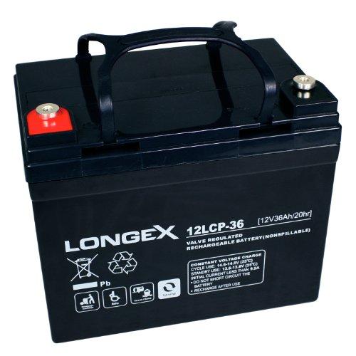 Longex 12LCP-36 / 12V - 36Ah Blei Akku Zyklentyp AGM - Deep Cycle