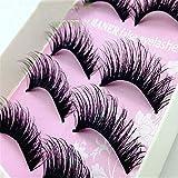 False eyelashes life makeup natural naked makeup long thick eyelashes pure hand-made black stalk 5 pairs