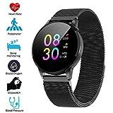 Padgene Smartwatch IP67 Impermeable Pantalla Color Pulsera Actividad Reloj Inteligente Deportivo con Monitor de Ritmo Cardiaco, Sueño, Notificación de Llamada y Mensaje para Android e iOS (Negro)