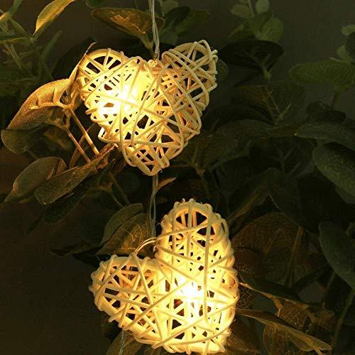 AJH Luces de Hadas de Moda, Luces LED a Pilas de 1,1 m 10 LED, Luces de Cadena de Amor para decoración del hogar, decoración navideña para café