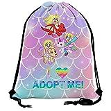 Pimalico Inquisitor-Master Adopt Me Drawstring Bag Lightweight Sackpack for Women Men Sports Backpack Storage Goodie Cinch Bag