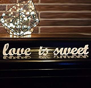 Love Decor Studio _ 1968 Wedding Decoration Love is Sweet Letters for Sweetheart Table Wedding Sign