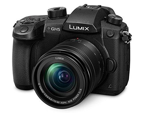 Panasonic Lumix DC-GH5MEG-K Systemkamera (20 MP, Dual I.S, 4K/6K, wetterfestes Magnesiumgehäuse, 12-60mm Objektiv, schwarz) & LUMIX DMW-BLF19E Li-Ion Akku (geeignet für LUMIX GH4 und LUMIX) schwarz