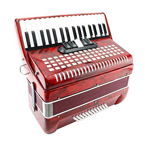 M-zutx Acordeón de piano 60 Bajo Acordeón de piano de 34 teclas 5 Cambio de voz...