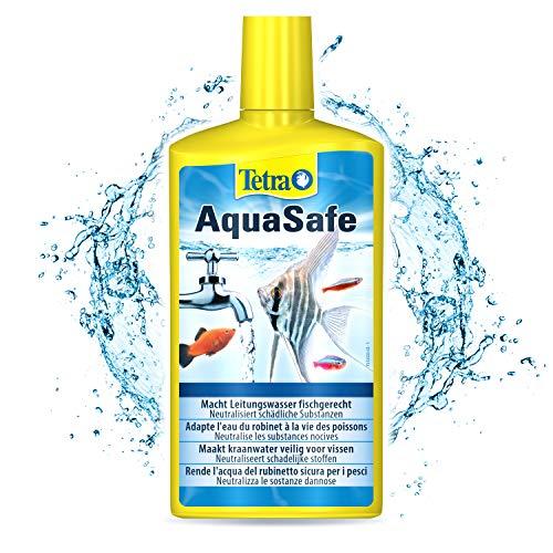 TETRA AquaSafe - Conditionneur d'Eau Naturel pour Poissons tropicaux -Agit en 5 mn - Eau Douce et Eau de Mer - Anti-Chlore - 500 ml