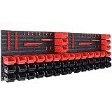 Deuba Tool Rack Garage Plastic Bins <span class='highlight'>Storage</span> Kit 90 Pcs Tools Organiser <span class='highlight'>Home</span> Shelves Unit Stackable Boxes Pegboard