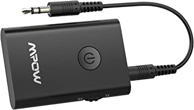 Lecteur CD,MP3 // MP4 TV Richer-R Transmetteur Bluetooth R/écepteur et /Émetteur Haut-parleurs Bluetooth 4.2/Émetteur R/écepteur sans Fil 2-en-1 avec Sortie de Musique St/ér/éo Audio 3,5 mm pour Casque