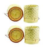 2 cestas tailandesas de bambú para arroz, 13 x 15 cm, para cocinar y servir...