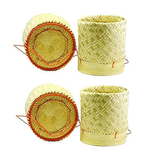 2 x Thai Bambuskorb Reiskorb 13 x 15cm Zum stilechten...