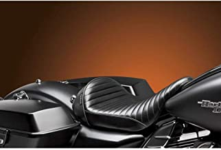 08-16 Harley FLHX2: Le Pera Stubs Cafe Seat (Smooth) (Black)