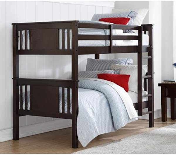 Better Homes And Gardens Flynn Twin Bunk Bed Espresso