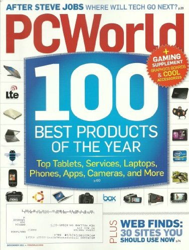 PC World Magazine December 2011 Gaming Supplement -100 Best Products of the Year