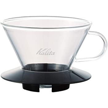 Kalita Wave Pour Over Coffee Dripper I Size 185​ I Makes 16-26oz I Single Cup Maker I Heat-Resistant Glass I Patented, Portable And Made in Japan​