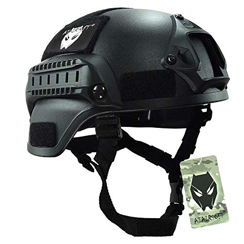 ATAIRSOFT Tactical Airsoft Paintball MICH 2000 Helmet with Side Rail &...