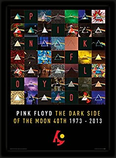 iPosters Pink Floyd Dark Side of The Moon 40Th Anniversary Framed 30 x 40 Official Print - Overall Size: 36 x 46 cm (14 x 18 inches) Print Size: 30 x 40 cm