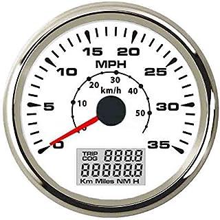 ELING Marine Auto GPS Speedometer Speedo Velometer 0-35MPH 0-55KM/H Odometer Mileage Backlight 85mm