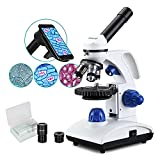ESSLNB Microscope 1000X Student Microscope for Kids LED Biological Light Microscope with Slides and Phone Adapter All-Metal Optical Glass Lenses