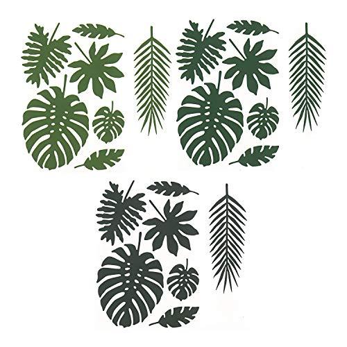partydeco 1 Aloha Papier Dekorationset - Tropische Blätter