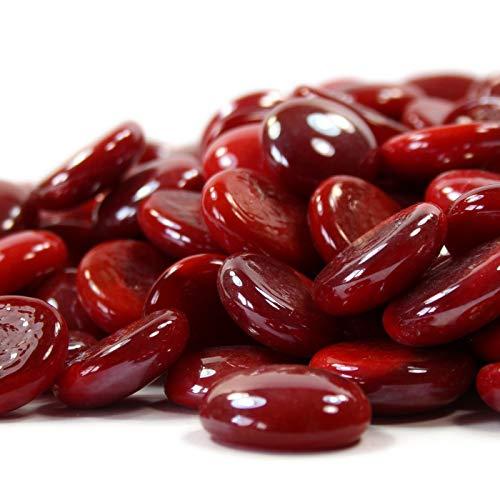 Steingrau 100g Glasnuggets Korngrößen 17-20mm Opak Rot