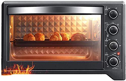 SHUI Mini-Backofen, multifunktional, elektrisch, unabhängige Temperaturregelung, 7 Heizmodi, 4-lagig, zum Backen verschiedener Lebensmittel