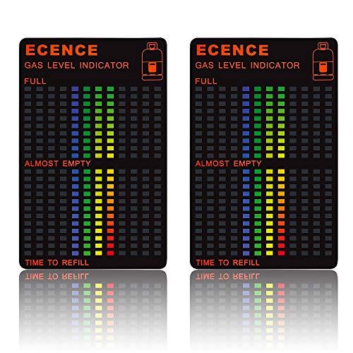 ECENCE 2X Magnetic Gas Propano Butano Bottiglia Indicatore Livello Manometro Camper Viaggio Campeggio 14040106