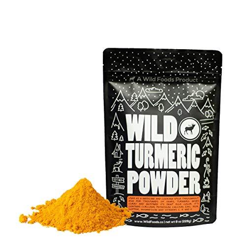 Wild Organic Turmeric Powder - 100% Raw Superfood with Joint Health Support - Curcumin & Antioxidant Rich - Vegan, Non GMO, Preservative Free & Gluten Free - 12 oz bag - Wild Foods