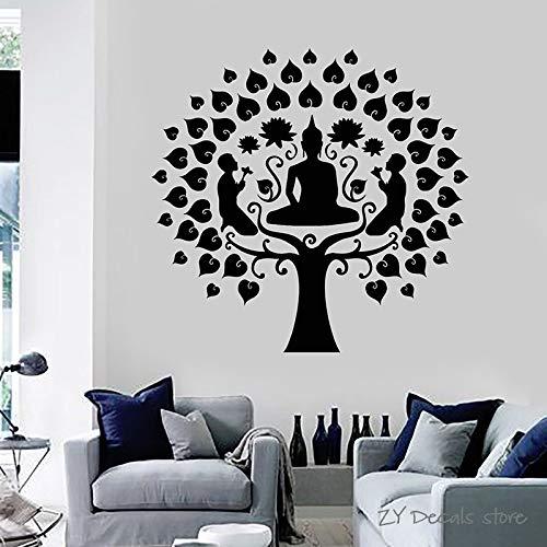 Stickers lé unique décoration murale Bouddha réf 2014
