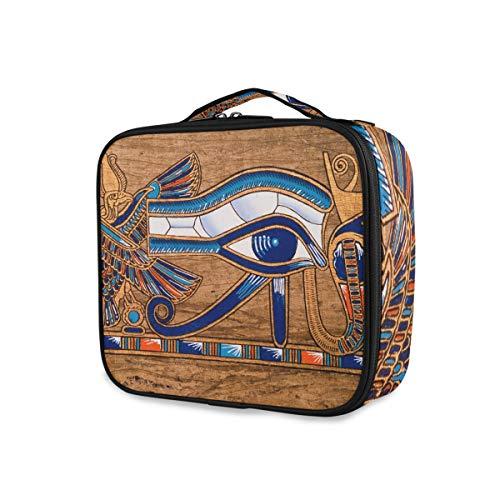 Trousse de toilette Trousse de maquillage Outils de voyage Cosmétique Train Case Storage Égyptien Horus Eye Portable Poches