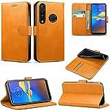 Schutzhülle für Motorola Moto G8 Plus, Brieftaschen-Hülle, magnetisch, Klappetui, Lederhülle, mit Kartenfächern & Standfunktion, für Moto G8 Plus 2019 (braun)