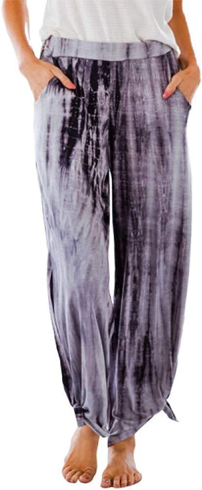 Women's European and American Summer Fashion Loose Wide Leg Pants Summer Casual