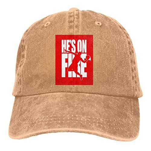 Ingpopol NBA Jam_ He's On Fire Adjustable Sport Jeans Baseball Golf cap Hat Unisex Style