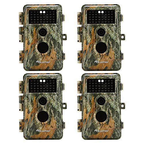 BlazeVideo 4-Pack No Glow Infrared Trail Hunting Game Cameras 16MP...