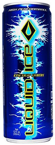 Liquid Ice Blue Energy Drink, 12 Ounce, 24 Count
