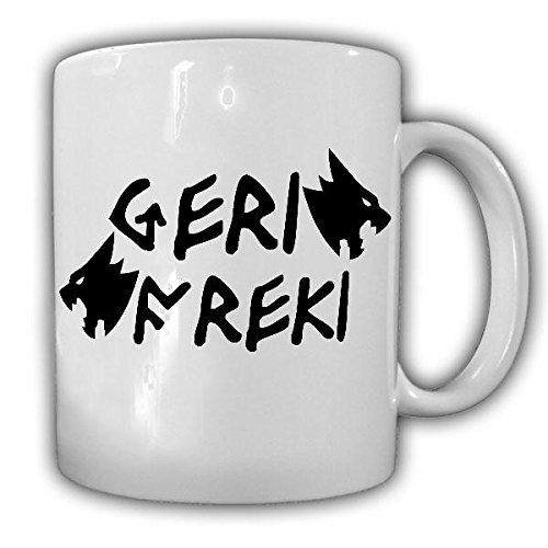Tasse Geri und Freki Odin Wolf Wikinger Gott Odins Wölfe Runen giriege Gefräßige nordische Mythologie #21783